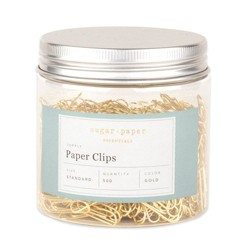 500ct Standard Paper Clips - Gold - Sugar Paper Essentials™