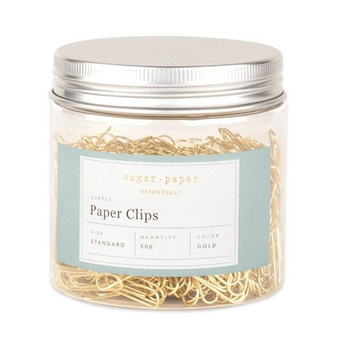 500ct Standard Paper Clips - Gold - Sugar Paper Essentials™ - image 1 of 4
