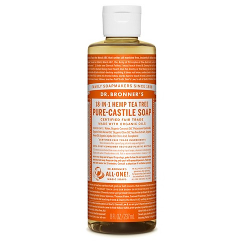 Dr. Bronner's Tee Tree Pure-Castile Liquid Soap - 8oz - image 1 of 1
