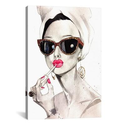 Audrey Hepburn by Rongrong DeVoe Canvas Print 26 x 18 - iCanvas