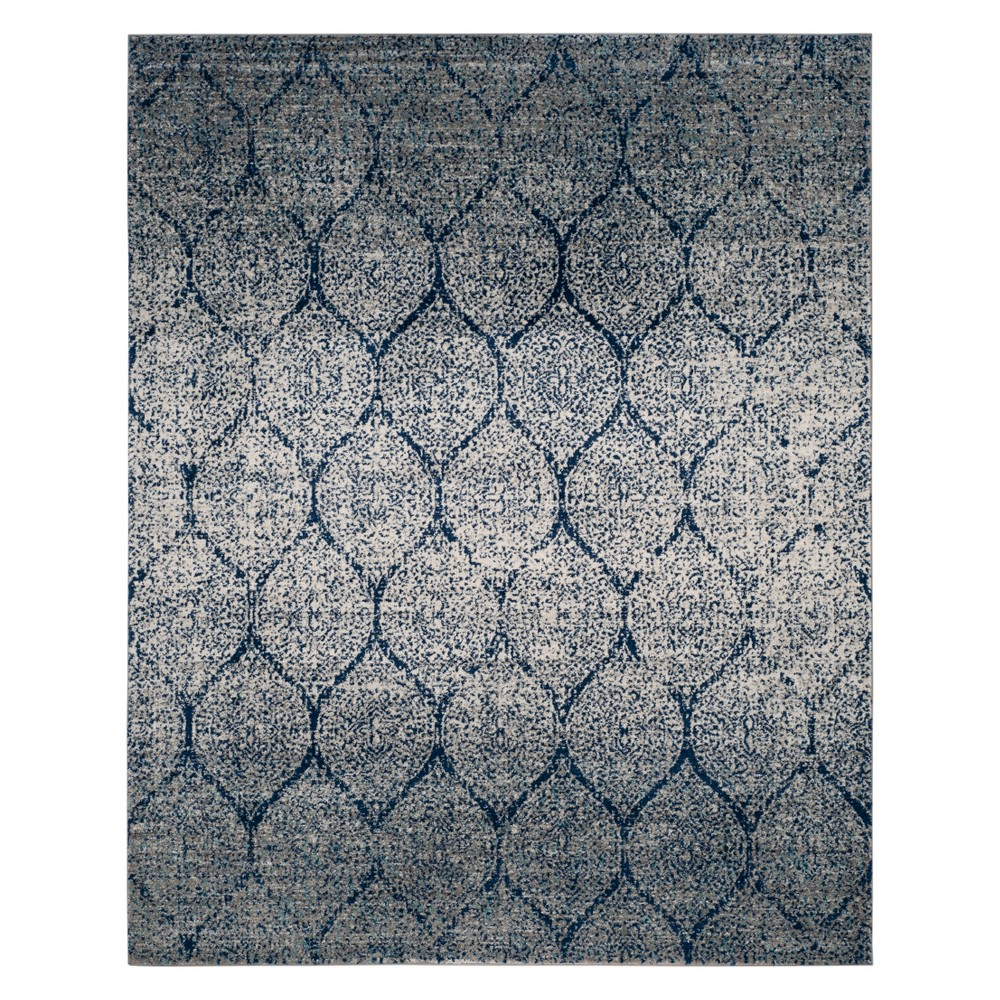 Shapes Loomed Area Rug Navy/Silver