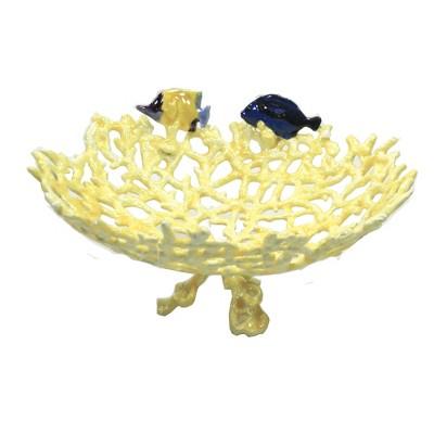 "Home Decor 3.0"" Coral Fish Bowl Dish Aquatic  -  Decorative Figurines"