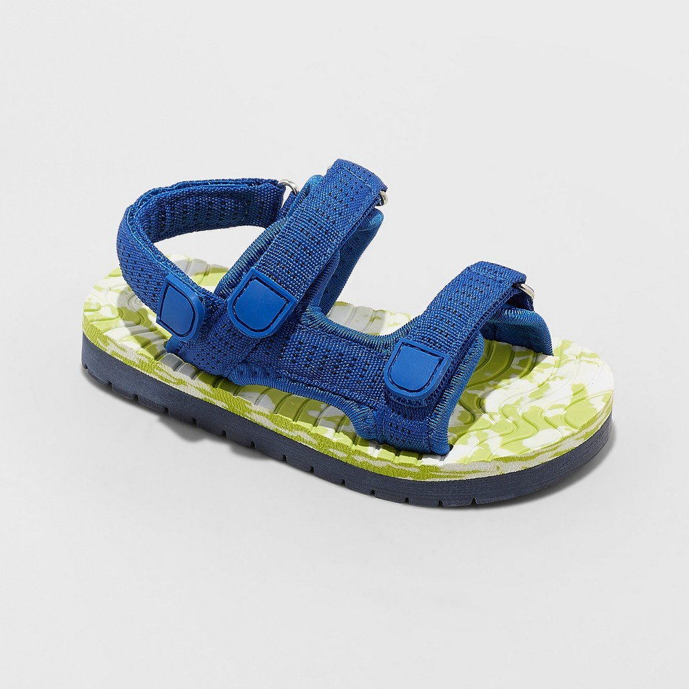 Toddler Boys' Paul Footbed Sandals - Cat & Jack Blue 12