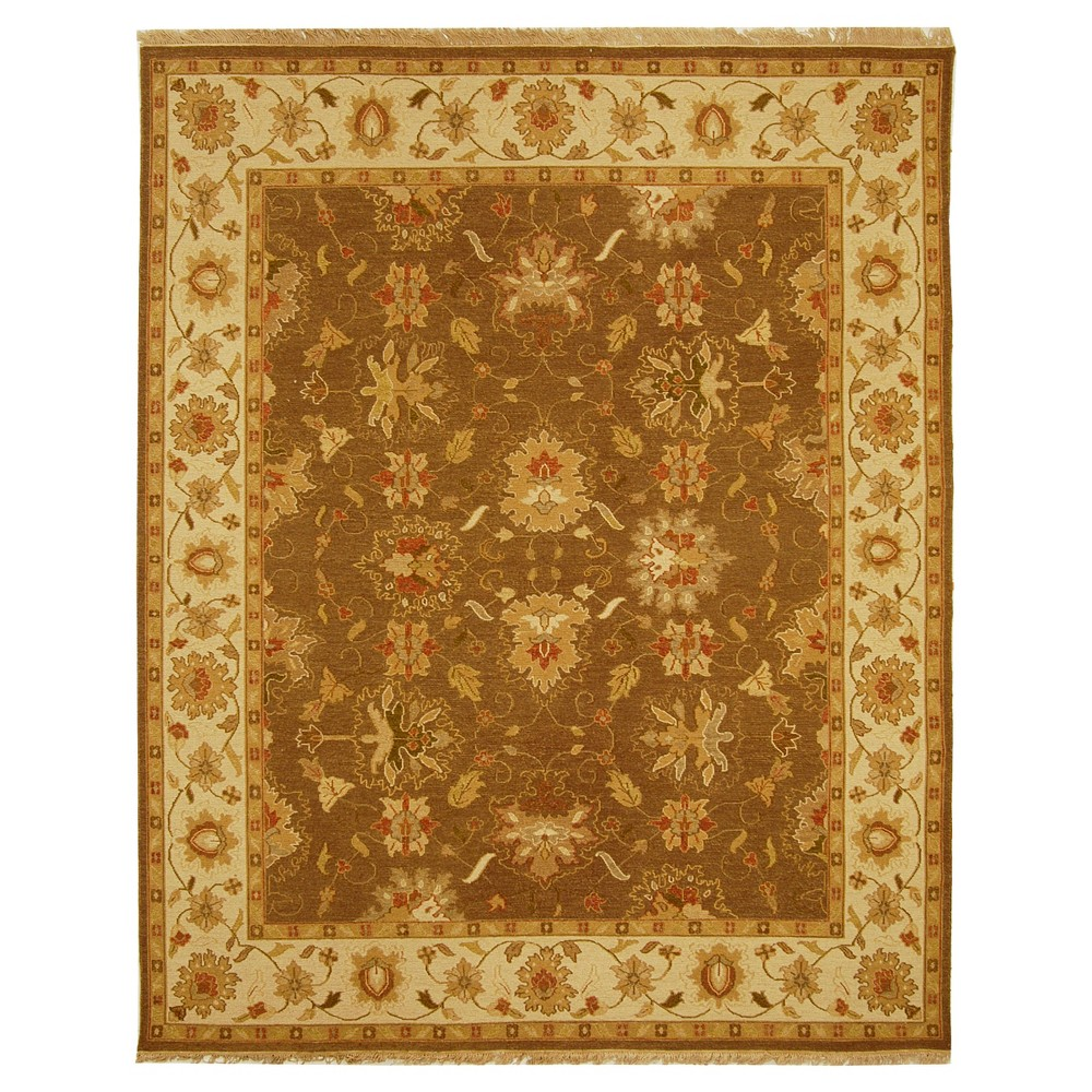 Brown/Ivory Solid Loomed Area Rug - (6'X9') - Safavieh