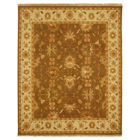 Brown/Ivory Solid Loomed Area Rug - (8'X10') - Safavieh - image 1 of 1