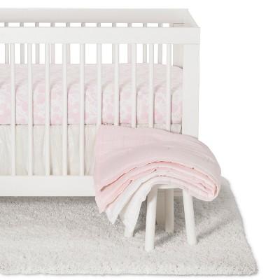 Crib Bedding Set Blushing Pink 3pc - Cloud Island™ Pink