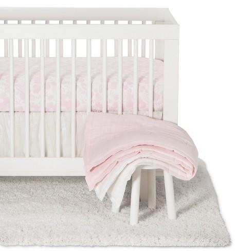 Crib Bedding Set Blushing Pink 3pc Cloud Island Pink