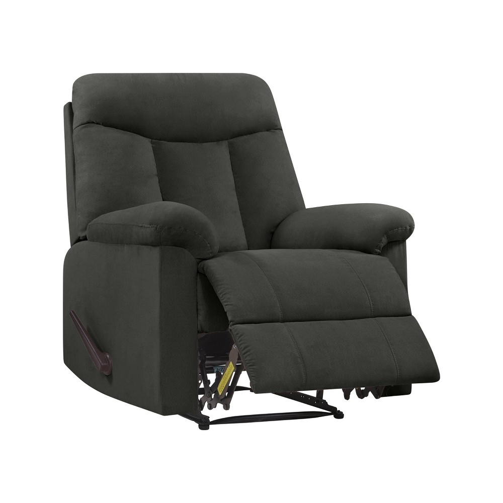 Image of Prolounger Microfiber Wall Hugger Recliner Gray - Handy Living