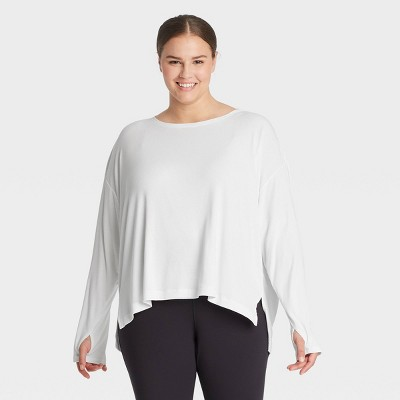 Women's Scooped Long Sleeve Tunic - All in Motion™