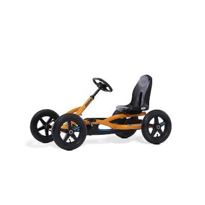 BERG Toys Buddy Kids Toddler Safe Pedal 4 Wheel Go Kart Toy, Orange