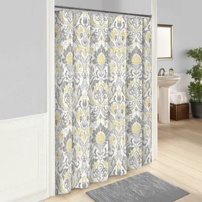 Rayna Printed Shower Curtain Gray - Marble Hill