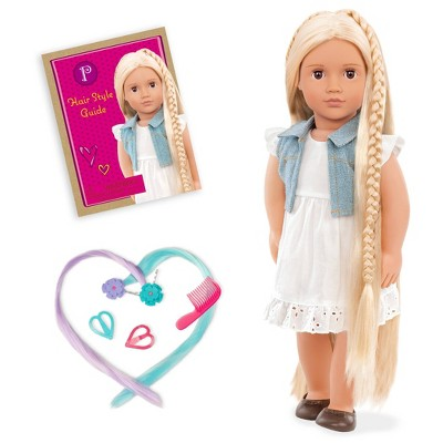"Our Generation 18"" Hair Grow Doll with Hair Clips & Styling Book - Phoebe"