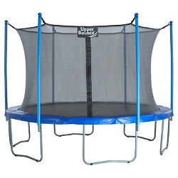 "Upper Bounce® 16' Trampoline and Enclosure Set equipped with the New ""Easy Assemble Feature"""