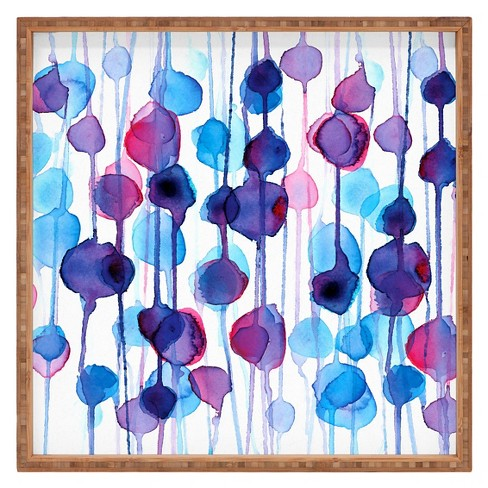 CMYKaren Abstract Watercolor Square Tray - Purple - Deny Designs® - image 1 of 1