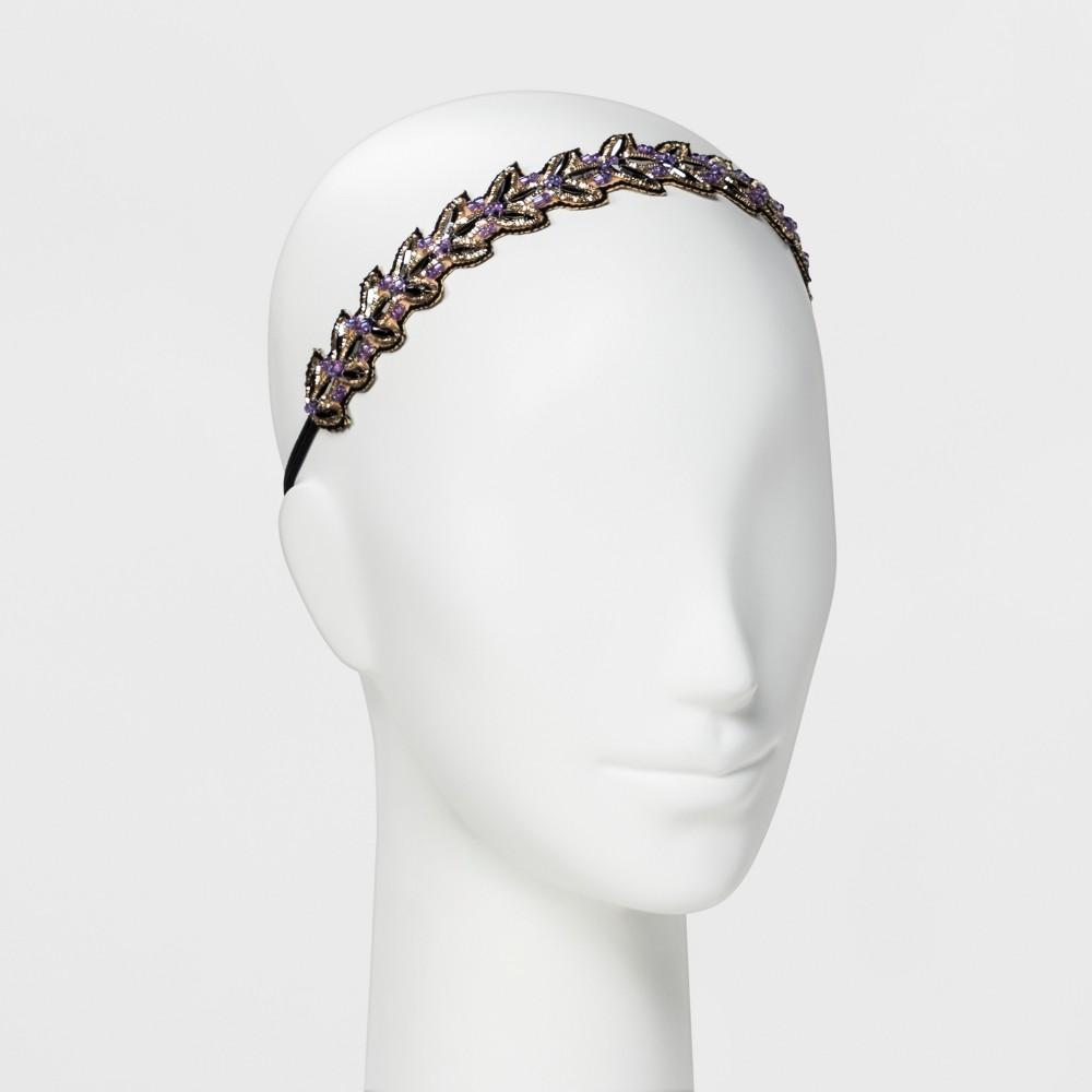 Image of Pink Pewter Headband - Purple