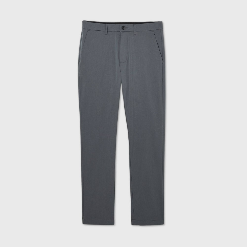 Men 39 S Athletic Fit Hennepin Tech Chino Pants Goodfellow 38 Co 8482 Gray 36x32