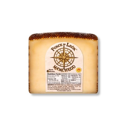 Ponce de Leon Manchego Cheese Wedge - 8oz
