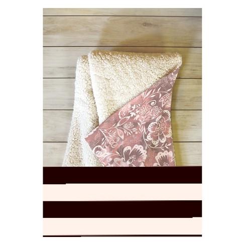 "50''x60"" Jacqueline Maldonado Floral Throw Blanket Pink - Deny Designs - image 1 of 2"
