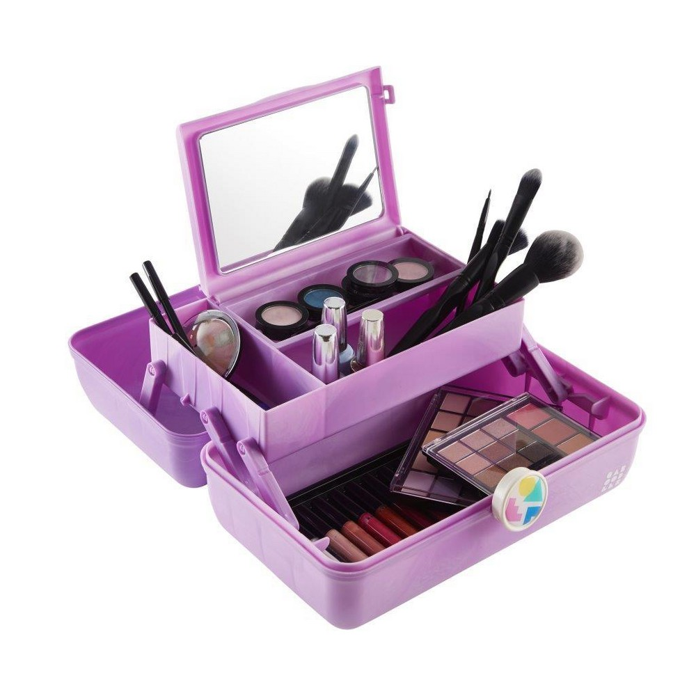 Retro Caboodles On the Go Girl Case Purple Marble