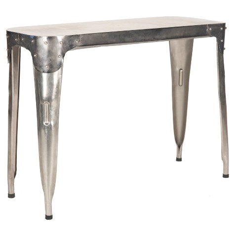 Silver Metal Console Table Tyres2c