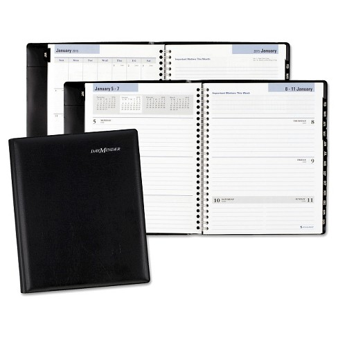 AT-A-GLANCE® DayMinder® Executive Weekly/Monthly Planner 6 7/8 x 8 3/4 Black 2018 - image 1 of 1