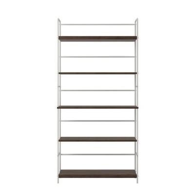 "60"" 5 Shelf Webster Bookshelf Walnut - Novogratz"