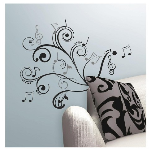 RoomMates Music Note Scroll Peel & Stick Wall Decals - image 1 of 2