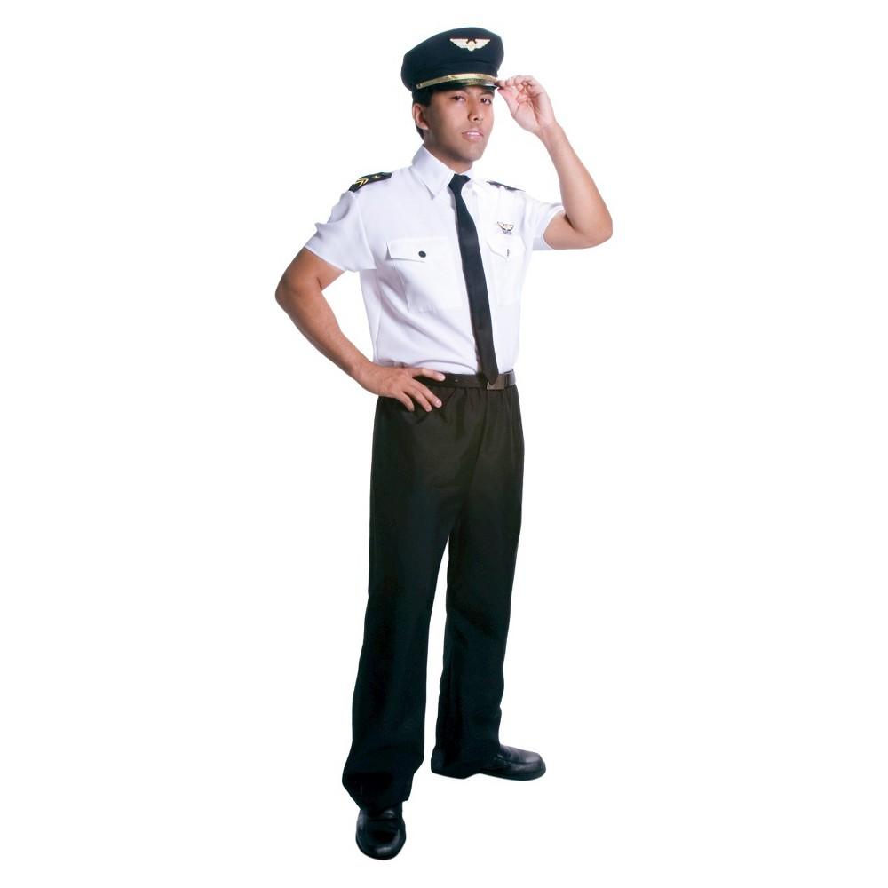 Image of Halloween Men's Pilot Costume Large, MultiColored