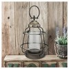 Stonebriar Industrial Metal Hurricane Candle Lantern, Small - image 2 of 4
