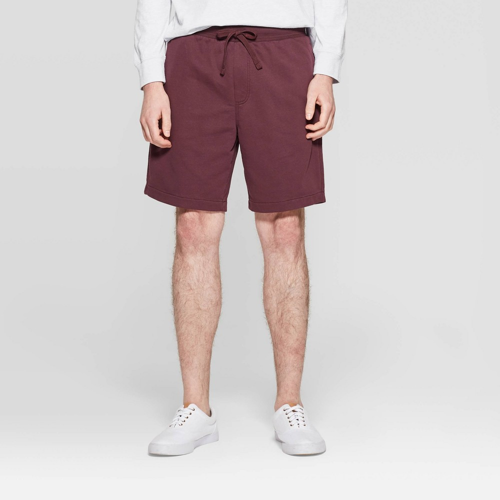 Men's Big & Tall 11.5 Regular Fit Shorts - Goodfellow & Co Burgundy 4XB, Red