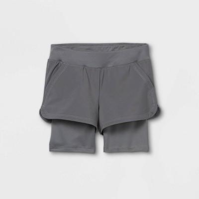 Toddler Girls' Activewear Shorts - Cat & Jack™ Gray
