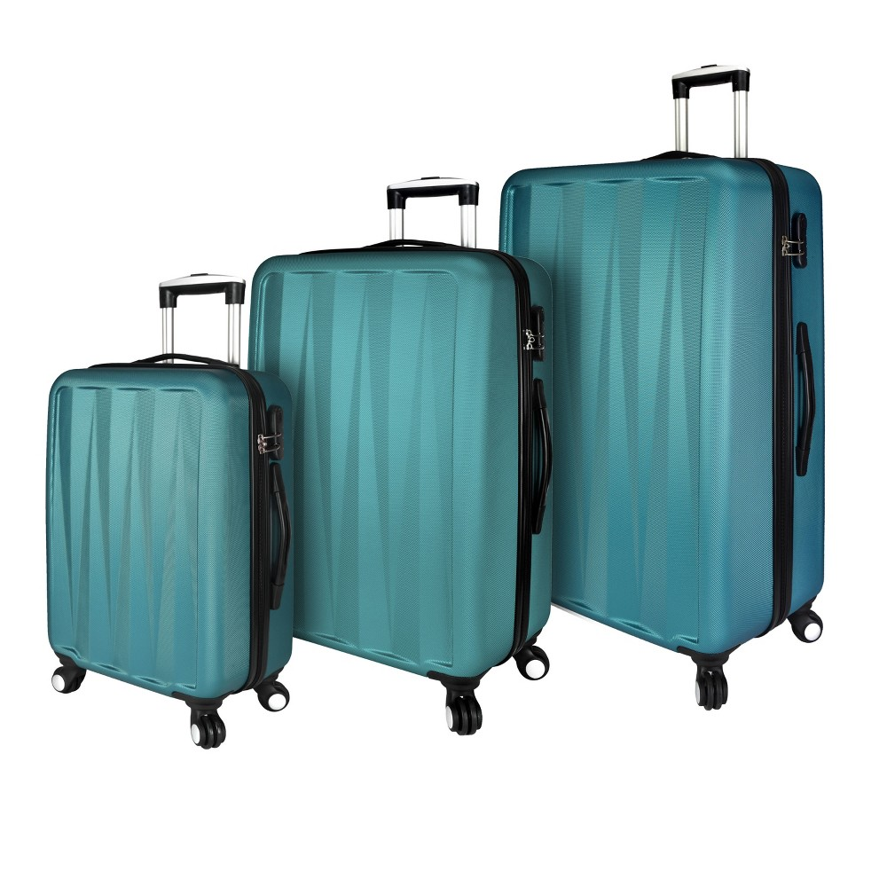 Image of Elite Luggage 3pc Hardside Spinner Luggage Set - Teal, Size: Medium, Blue