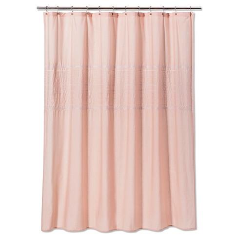 Solid Shower Curtain Prairie Peach