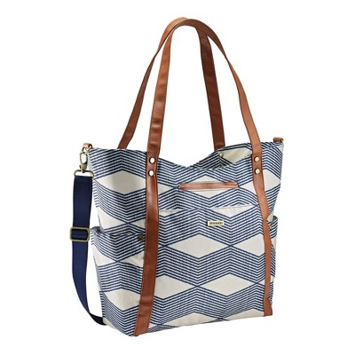 JJ Cole Bucket Tote Diaper Bag - Navy Wine