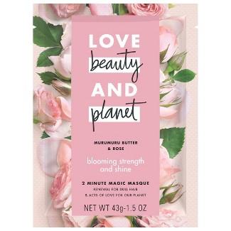 Love Beauty & Planet Murumuru Butter & Rose Blooming Strength And Shine 2 Minute Magic Masque - 1.5oz