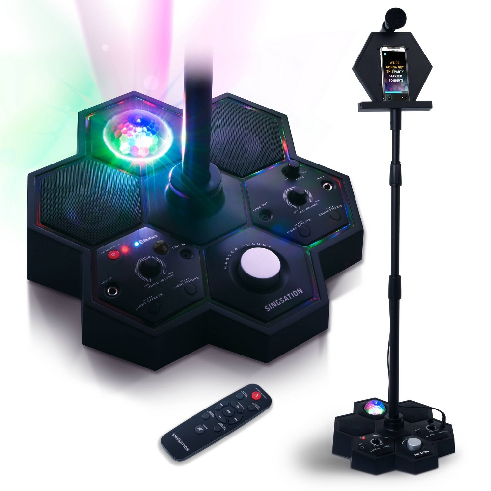 Singsation Performer Deluxe All-in-One Karaoke Party System, Black