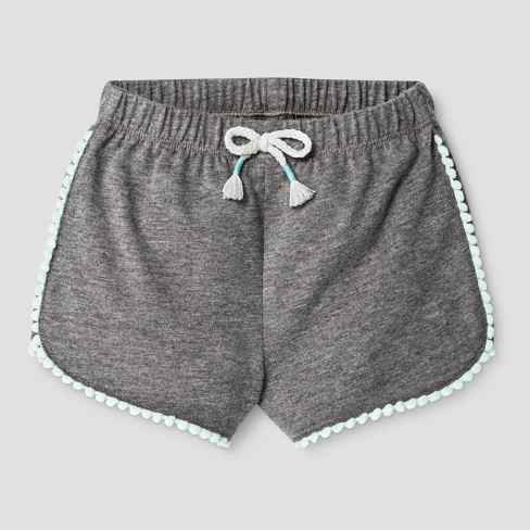 dfdaeed011d5 Baby Girls  PomPom Shorts - Cat   Jack™ Gray   Target