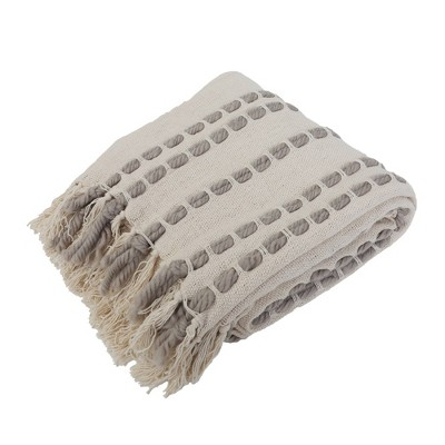 """50""""x60"""" Wanda Woven Throw Blanket with Border Fringe Trim - Décor Therapy"""