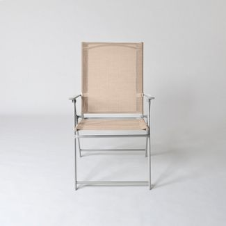 Sling Folding Patio Chair Tan - Threshold™