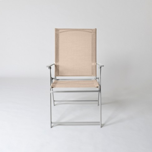 Astonishing Sling Folding Patio Chair Threshold Gmtry Best Dining Table And Chair Ideas Images Gmtryco
