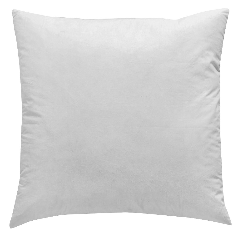 White Solid Polyester Throw Pillow 20