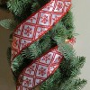 """Northlight White and Red Snowflake Wired Christmas Craft Ribbon 2.5"""" x 10 Yards - image 3 of 3"""
