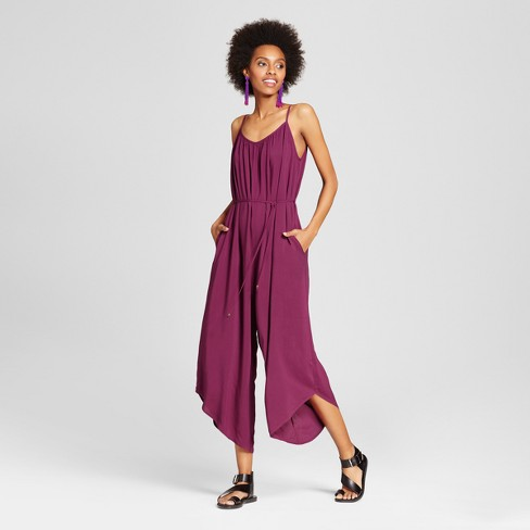 73719624cf6 Women s Sack Jumpsuit - Xhilaration™ (Juniors ) Plum   Target