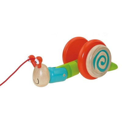 Edushape Dilly Dally Wooden Snail Pull