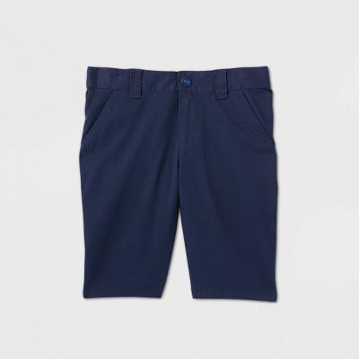 Girls' Flat Front Stretch Uniform Shorts - Cat & Jack™ Navy