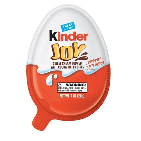 Kinder Joy Sweet Cream Topped with Cocoa Wafer Bites Chocolate Treat + Toy - 0.7oz - image 1 of 1