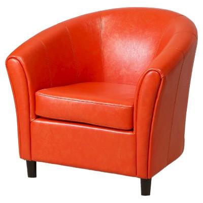 Napoli Club Chair Orange - Christopher Knight Home