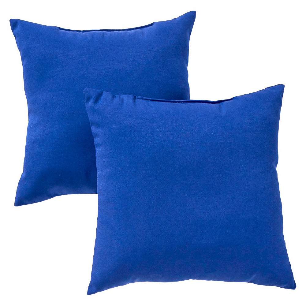 Image of Greendale Home Fashions Set of 2 Square Outdoor Accent Pillows - Marine