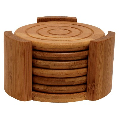 Lipper International Bamboo 7-pc. Coaster Set