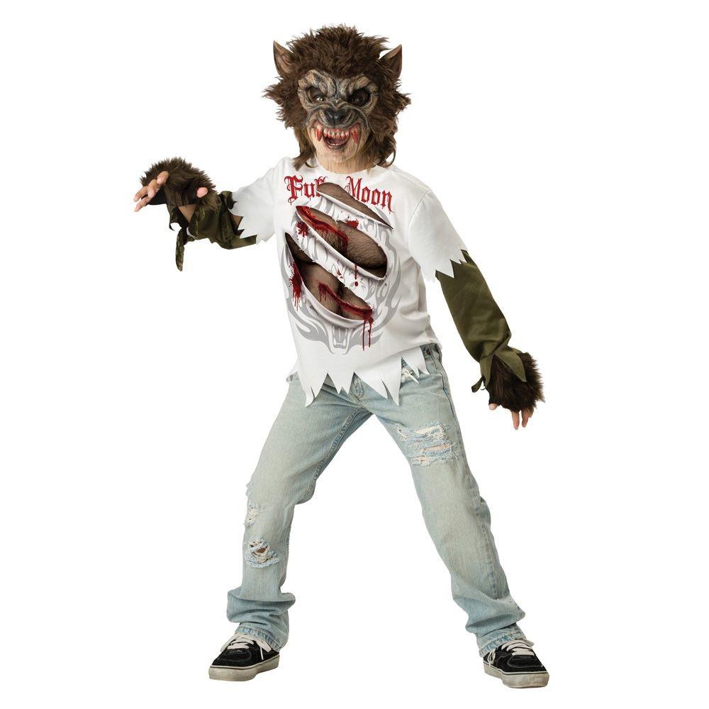 Kids' Werewolf Costume Large (10-12), Boy's